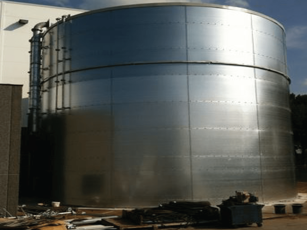 Fire Sprinkler Tank Installation